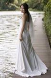 5室外的新娘 免版税库存照片