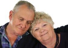 5对夫妇愉快的前辈 免版税库存照片