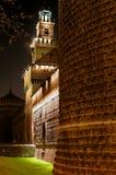 5座城堡中世纪晚上 免版税库存照片