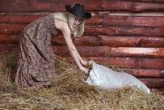 5把干草妇女 免版税库存图片