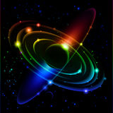 5抽象太阳系 皇族释放例证