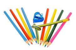 5支色的铅笔 免版税图库摄影
