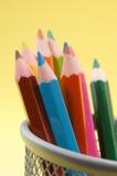 5支色的铅笔 免版税库存图片