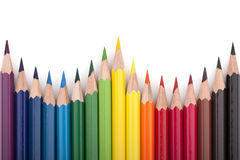 5支色的铅笔 图库摄影