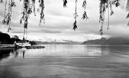 5日内瓦湖洛桑瑞士 图库摄影