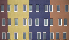 5栋公寓上色了多 免版税图库摄影