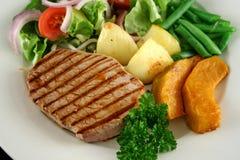 5棵牛排蔬菜 免版税库存照片