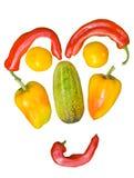 5棵表面蔬菜 库存照片