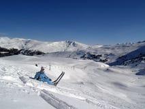 5滑雪者 免版税图库摄影