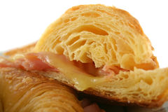 5熔化的干酪新月形面包 库存图片