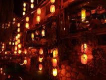 5瓷lijiang顶层游人城镇 库存图片