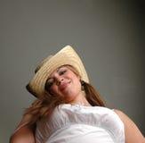 5白色服装妇女 图库摄影