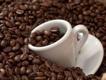 5粒豆咖啡杯 库存图片