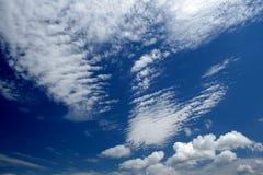 5蓝色黑暗的天空 库存照片