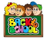 5返回学校主题 库存照片