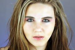 5青少年美好的女孩的headshot 图库摄影