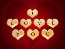 5 älskar jag dig Royaltyfria Bilder