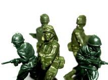 5 żołnierzy zabawka Obrazy Royalty Free