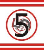 5 αριθμός Στοκ Εικόνα