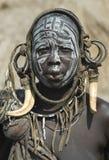 5 αφρικανικοί άνθρωποι mursi Στοκ φωτογραφία με δικαίωμα ελεύθερης χρήσης