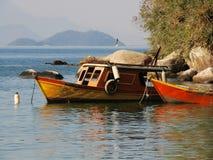 5 δεμένες βάρκες Στοκ Εικόνα