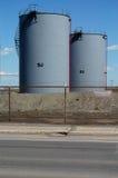 5 δεξαμενές πετρελαίου Στοκ φωτογραφία με δικαίωμα ελεύθερης χρήσης