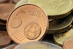 5 ευρώ σεντ Στοκ Εικόνες