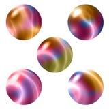 5 ζωηρόχρωμες σφαίρες απεικόνιση αποθεμάτων
