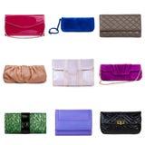 5 θηλυκά πολύχρωμα πορτοφόλια Στοκ εικόνα με δικαίωμα ελεύθερης χρήσης