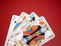 5 κάρτες Στοκ εικόνα με δικαίωμα ελεύθερης χρήσης