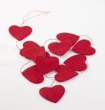 5 καρδιές γιρλαντών στοκ εικόνα με δικαίωμα ελεύθερης χρήσης
