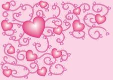 5 καρδιές nacreous ελεύθερη απεικόνιση δικαιώματος