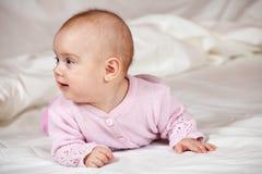 5 μήνες κοριτσακιών Στοκ Εικόνες