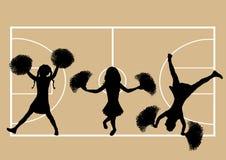 5 μαζορέτες καλαθοσφαίρ&io διανυσματική απεικόνιση