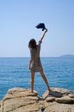 5 νεολαίες γυναικών βράχο Στοκ Εικόνες