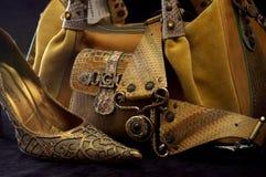 5 παπούτσια τσαντών Στοκ Εικόνες