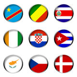 5 σημαίες που τίθενται διανυσματική απεικόνιση