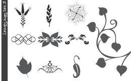 5 φύλλα εικονιδίων που τίθ& Στοκ εικόνες με δικαίωμα ελεύθερης χρήσης
