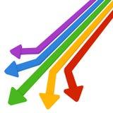5 χρωματισμένα βέλη διανυσματική απεικόνιση