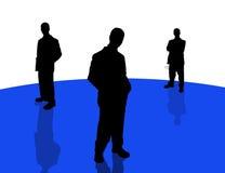 5 бизнесменов теней иллюстрация вектора