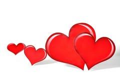 5 Валентайн сердца s Стоковые Фотографии RF