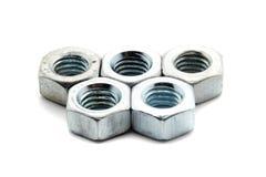 5 винтов металла стоковое фото