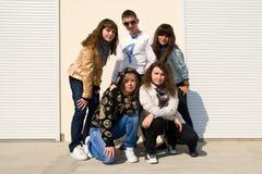 5 детенышей людей группы Стоковое Изображение
