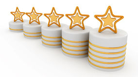 5 звезд ранжировки золота Стоковое Фото