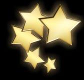 5 золотистых звезд Стоковая Фотография RF