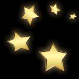 5 золотистых звезд Стоковое Изображение