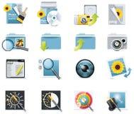 5 икон разделяют вектор съемки Стоковые Фото
