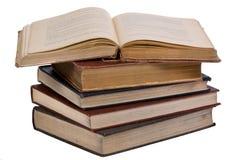 5 книг старых Стоковое Изображение