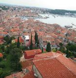 5 над взглядом города старым Стоковое Изображение RF