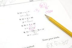5-ое испытание математики ранга Стоковое Изображение